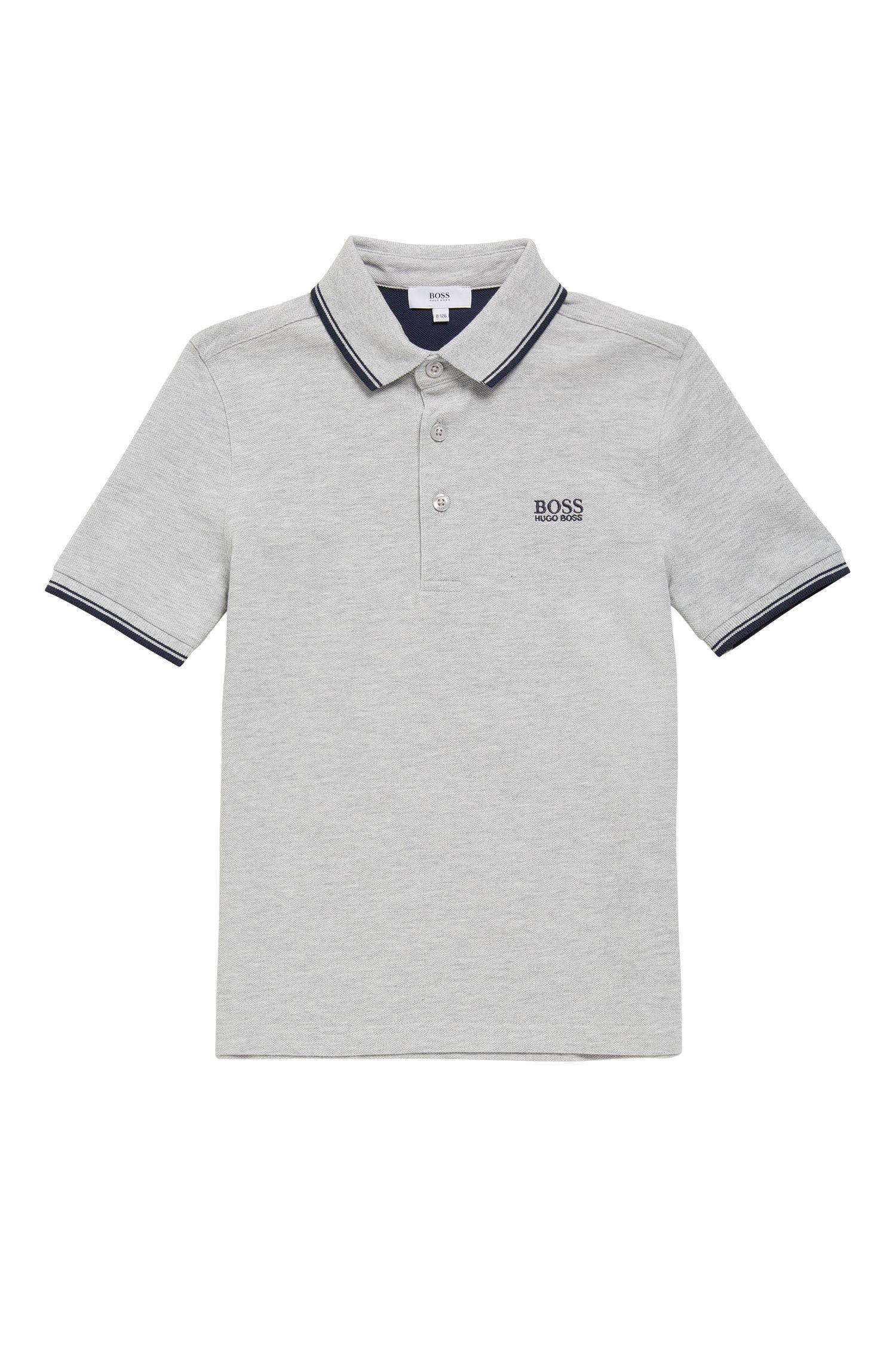 Kids-Poloshirt aus Baumwolle mit kurzen Ärmeln: 'J25V10'