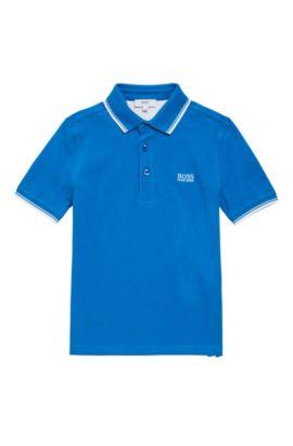 Kids-Poloshirt aus Baumwolle mit kurzen Ärmeln: 'J25V10', Blau