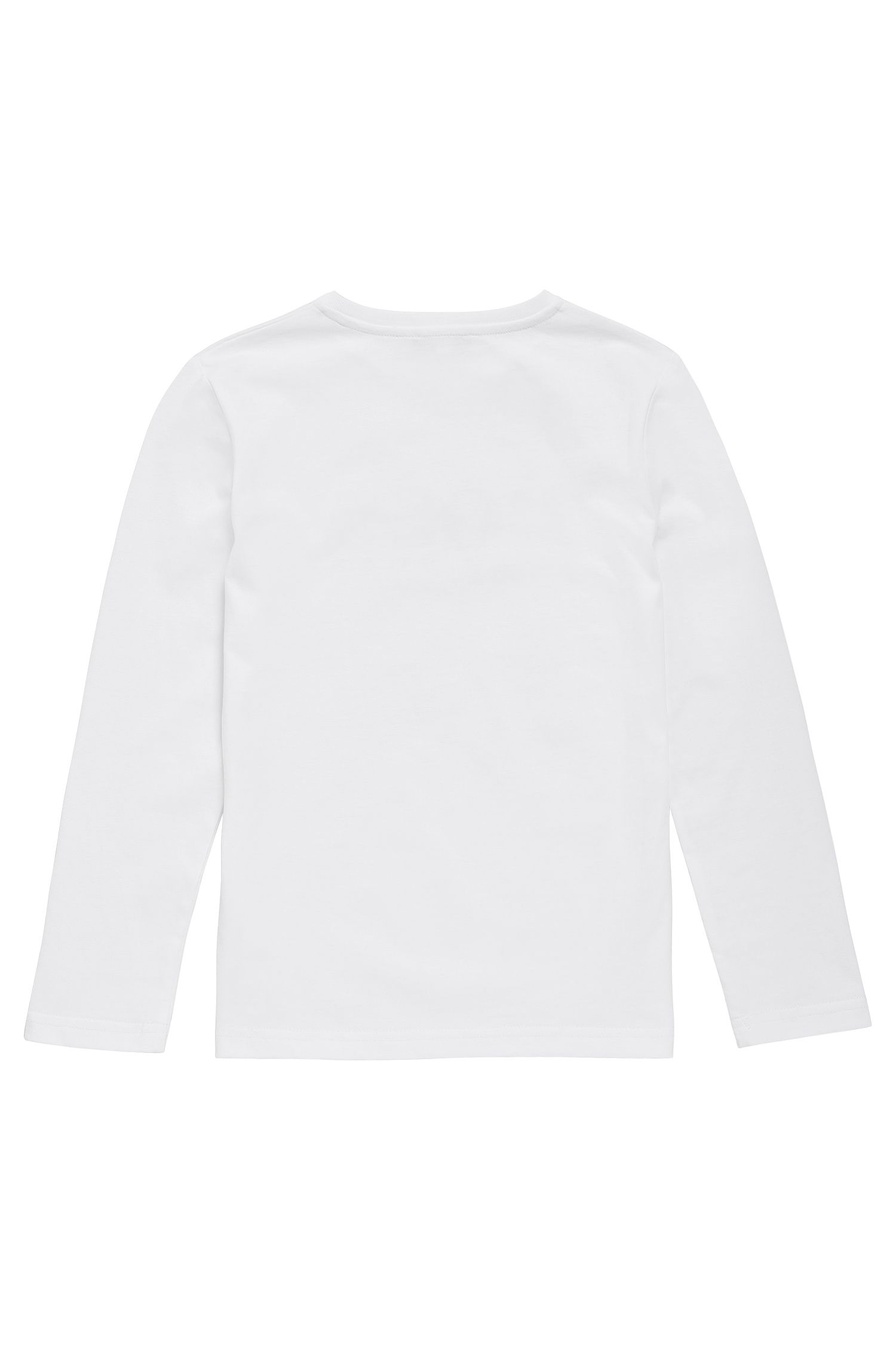 Kids' long-sleeved cotton shirt with logo print: 'J25V42'