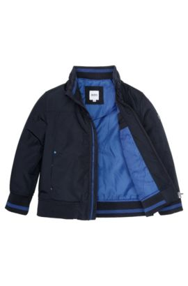 Outdoorkinderjas 'J26202' van wind- en waterafstotend materiaal, Donkerblauw