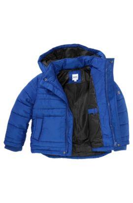 Blouson doudoune pour enfant «J26203» à capuche amovible, Bleu