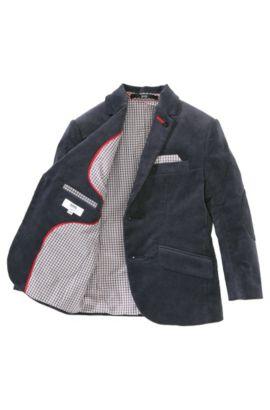 Veste en velours bébé pour enfants «J26211» en coton mélangé, Noir