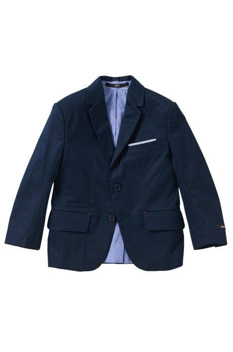 Veste de costume en coton extensible avec pochette intégrée pour enfants: «J26275», Bleu foncé