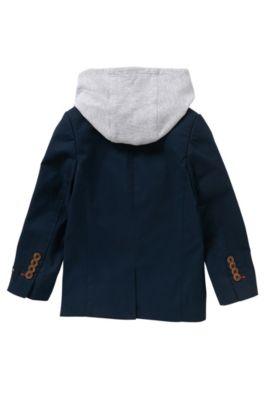 Veste de costume pour enfant en coton à empiècement amovible: «J26276», Bleu foncé