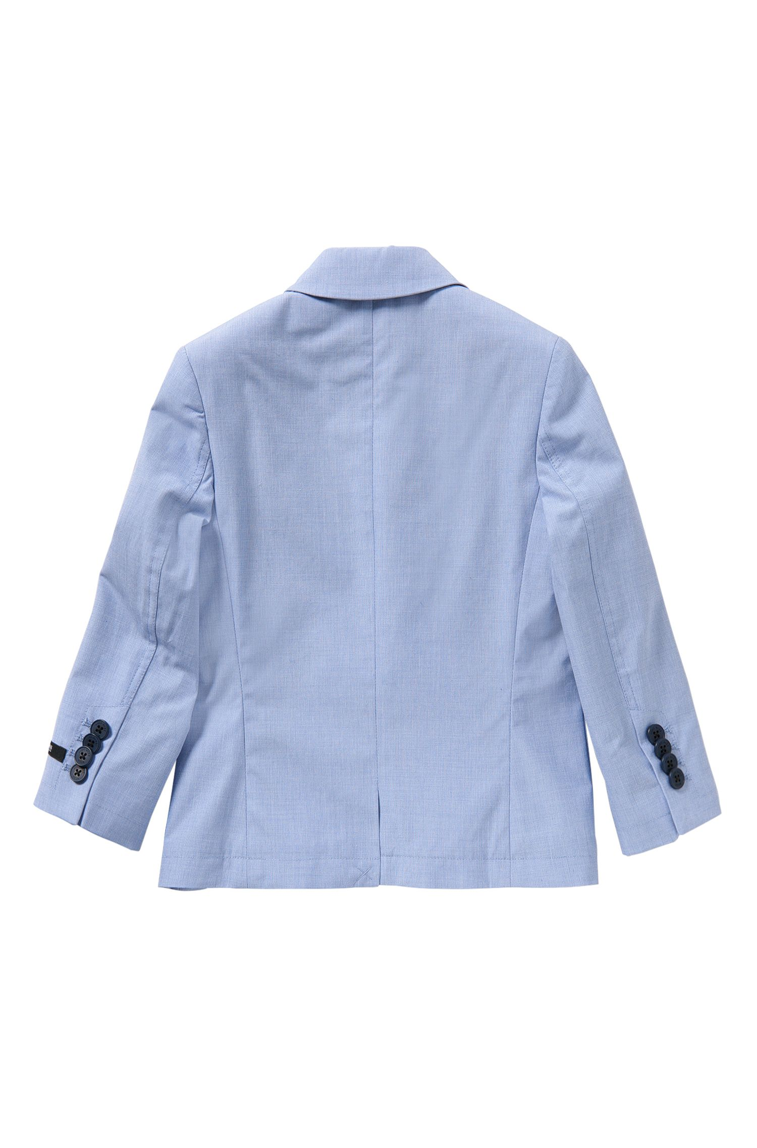 Finely checked kids' jacket in cotton with integral pocket square: 'J26277'