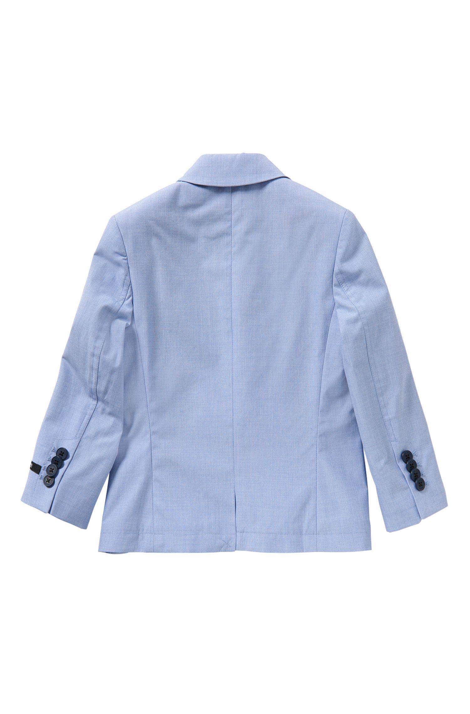 Giacca da bambino a quadretti in cotone con pochette integrata: 'J26277'