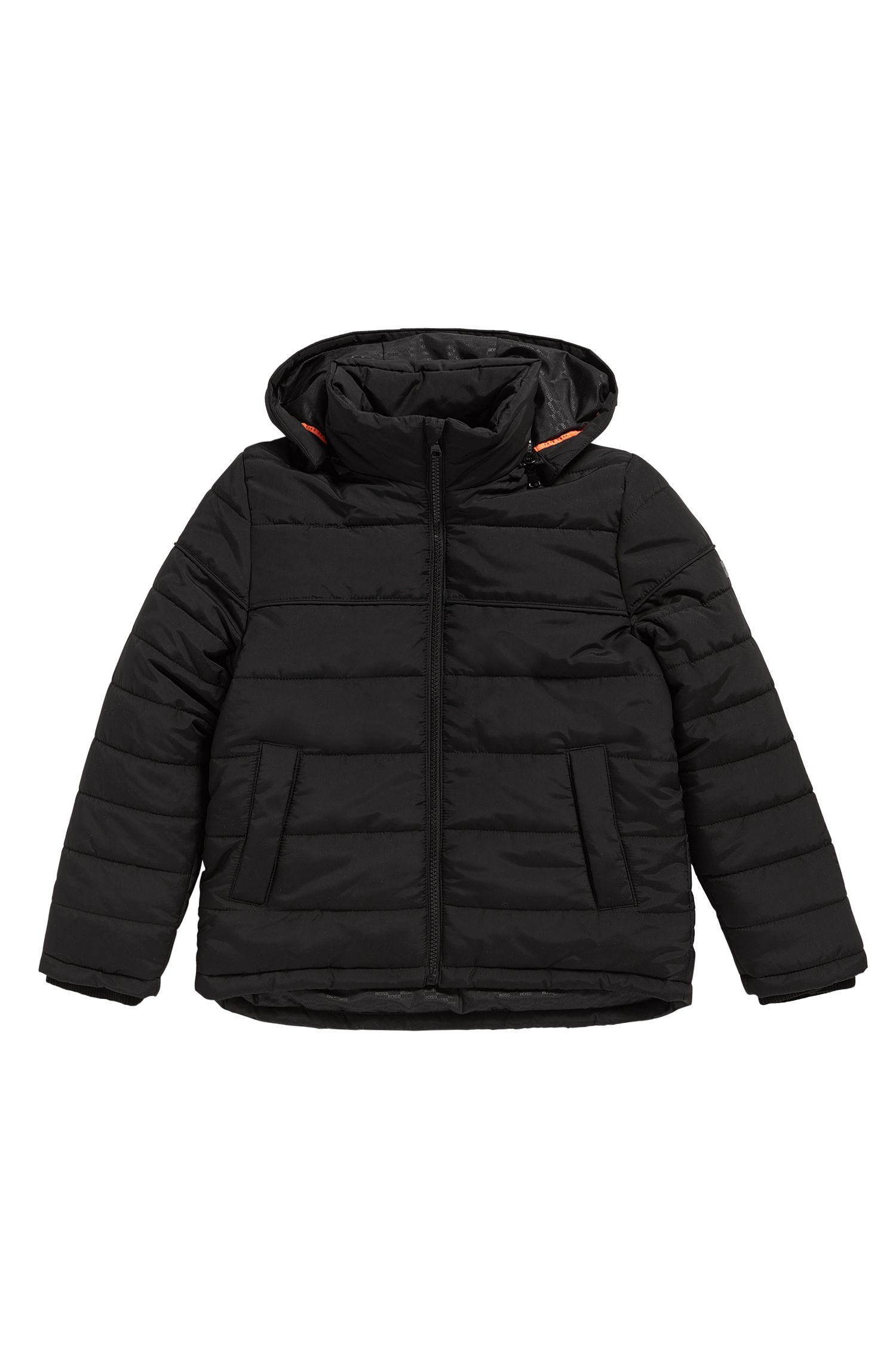 Kids' jacket in material blend with detachable hood: 'J26282'