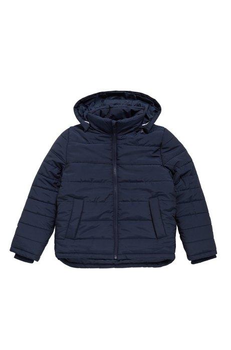 Giacca da neonato in materiali misti con cappuccio rimovibile: 'J26282', Blu scuro