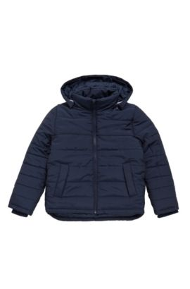 Kids' jacket in material blend with detachable hood: 'J26282', Dark Blue
