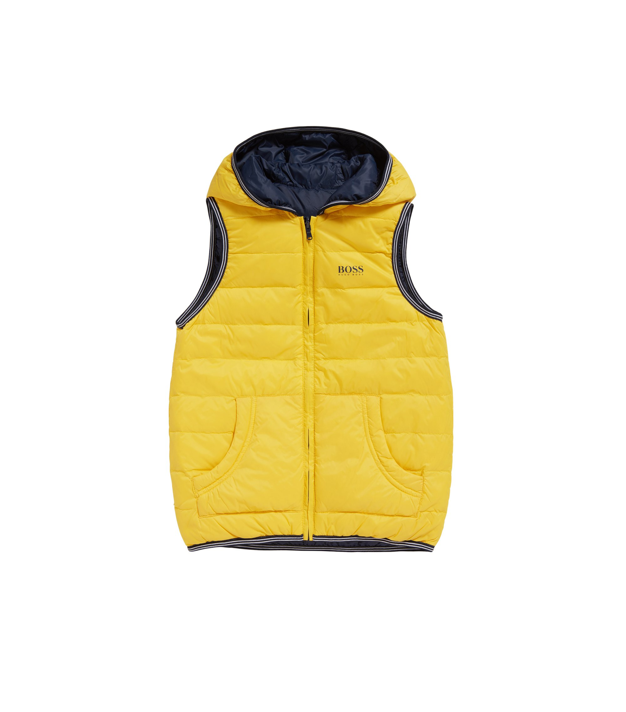 Kids' reversible quilted down gilet: 'J26283', Gold