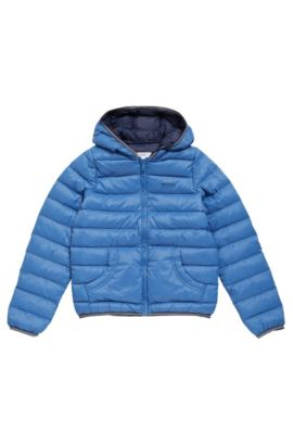 Quilted down jacket for kids in material blend: 'J26284', Blue