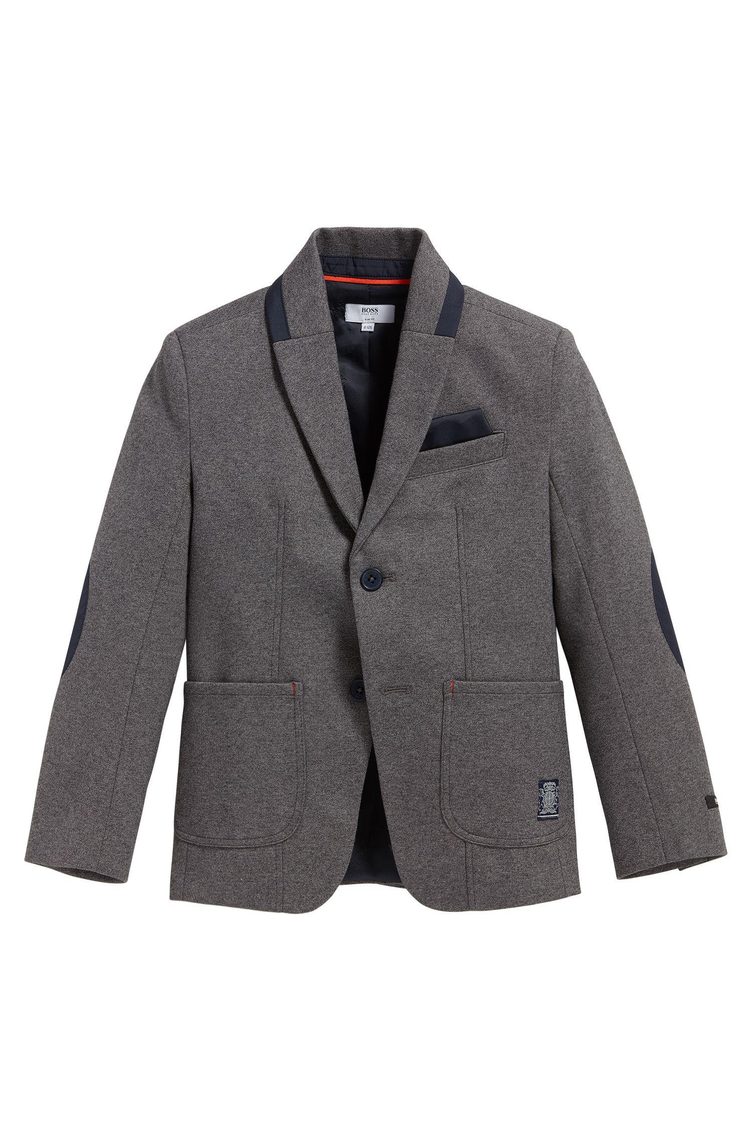 Veste de costume pour enfant en coton mélangé extensible, à coudières: «J26293»