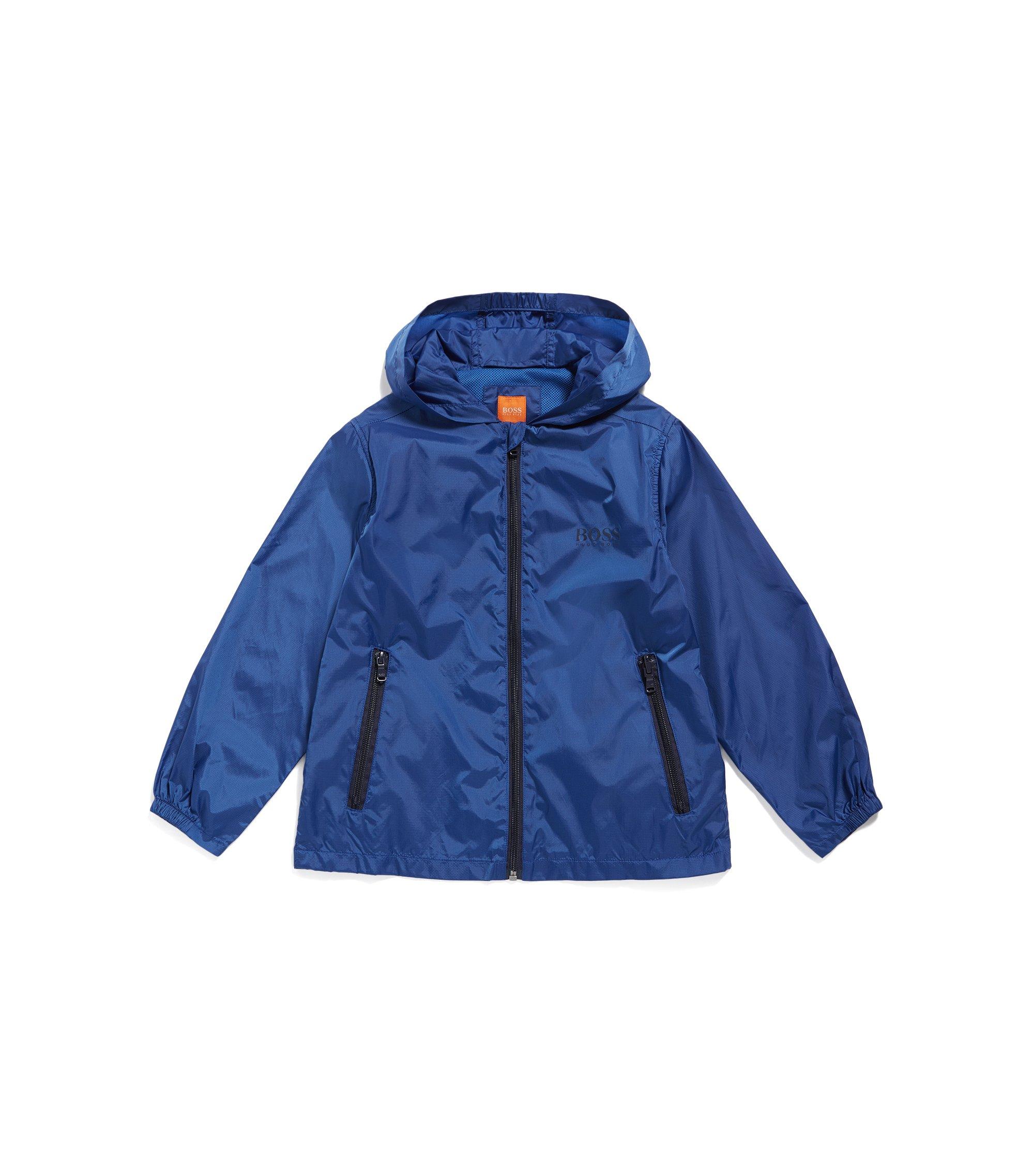 Kids' regular-fit jacket in ripstop fabric, Blue