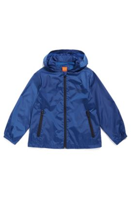 Kids' regular-fit jacket in ripstop fabric, Blue