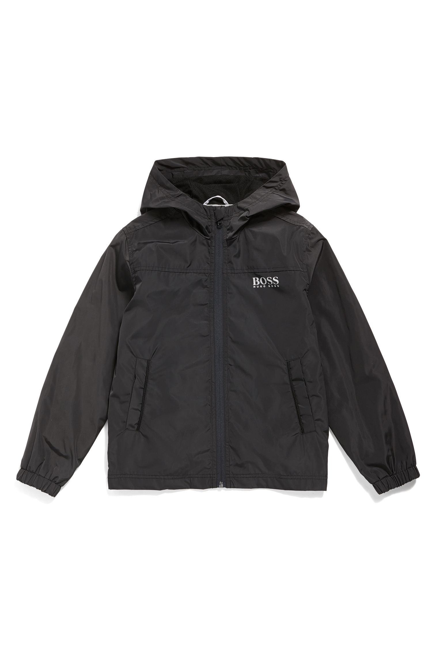 Kids' regular-fit jacket in ripstop fabric