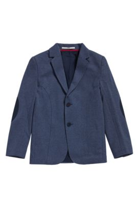Kids' regular-fit jacket in a cotton blend, Dark Blue