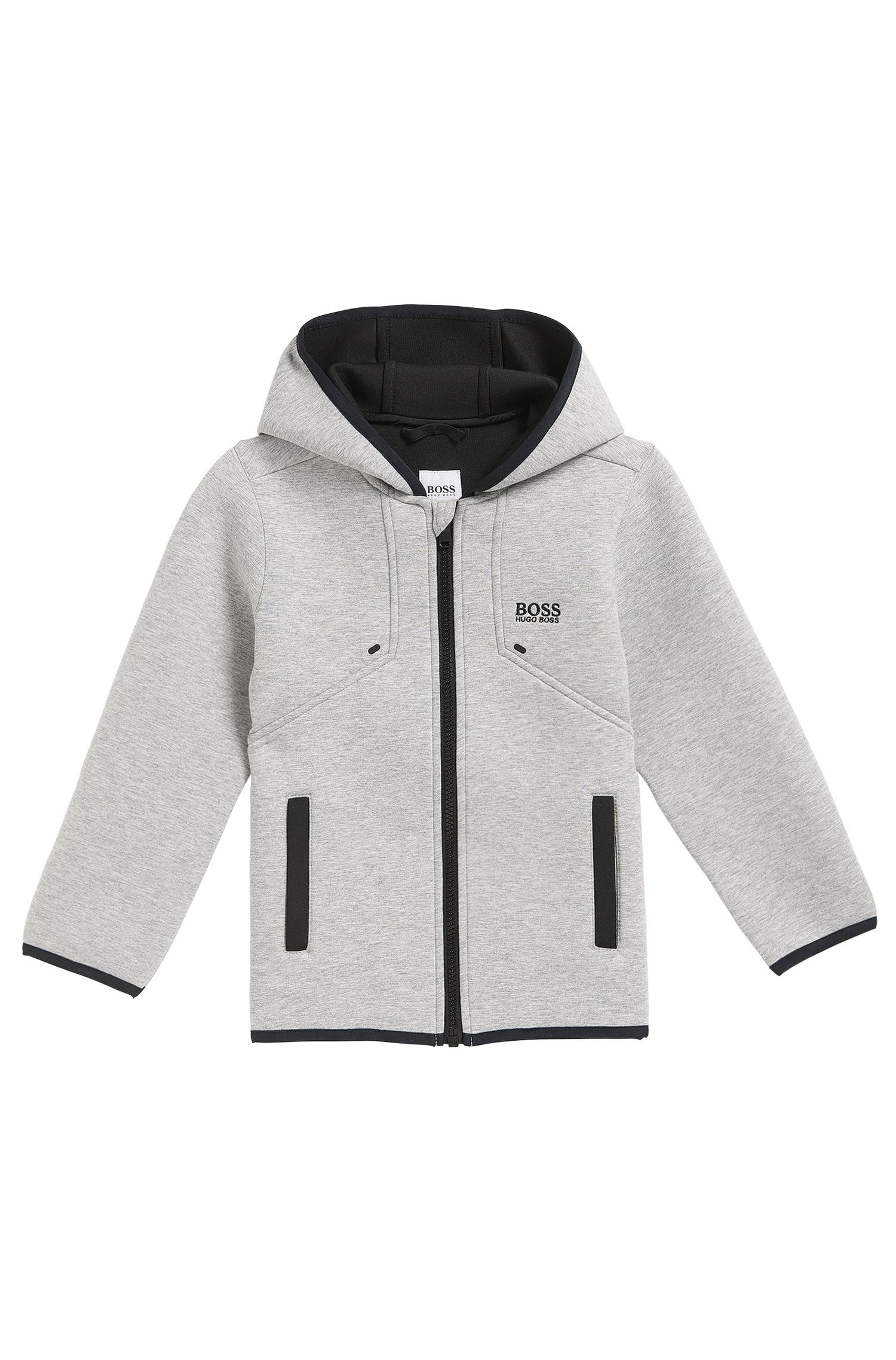 Regular-Fit Kids-Jacke aus gebondetem Material-Mix