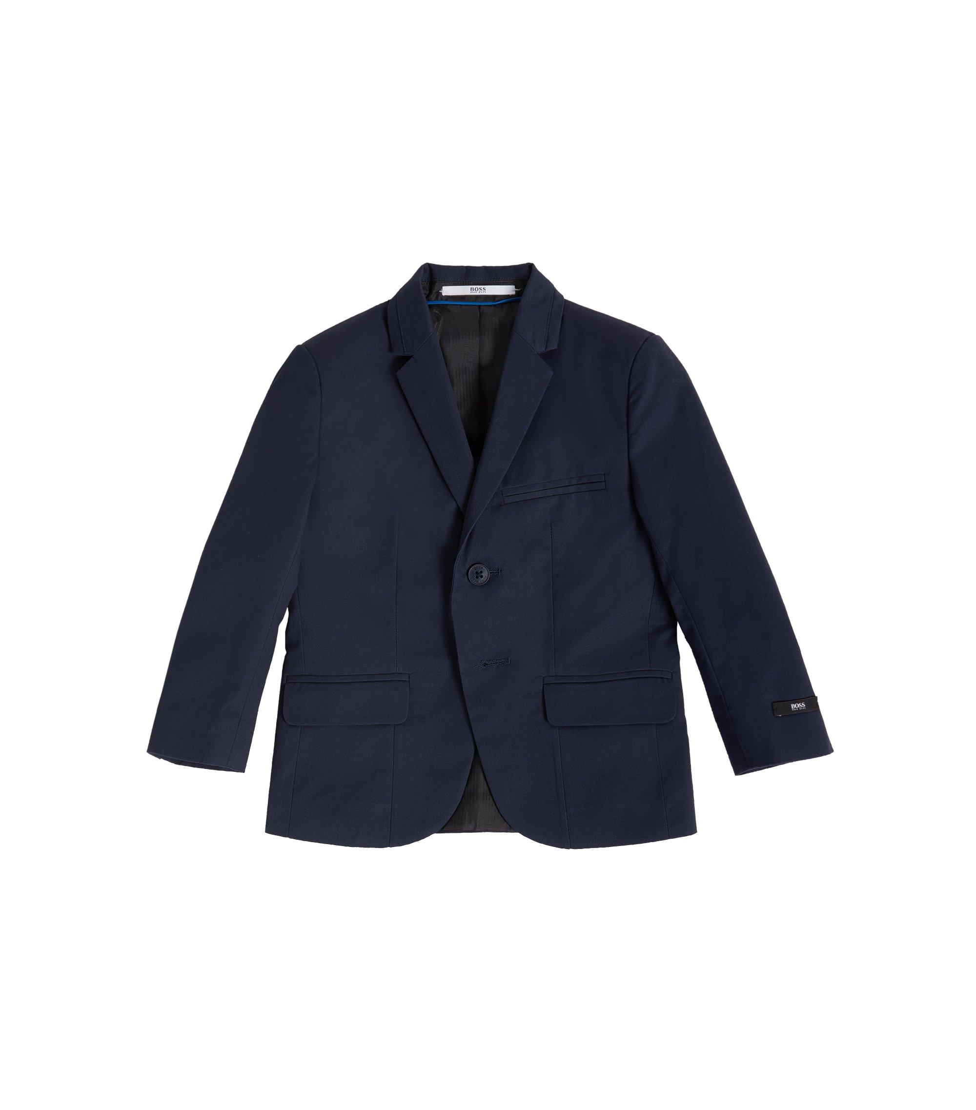 Chaqueta de traje regular fit en sarga de algodón para niños, Azul oscuro