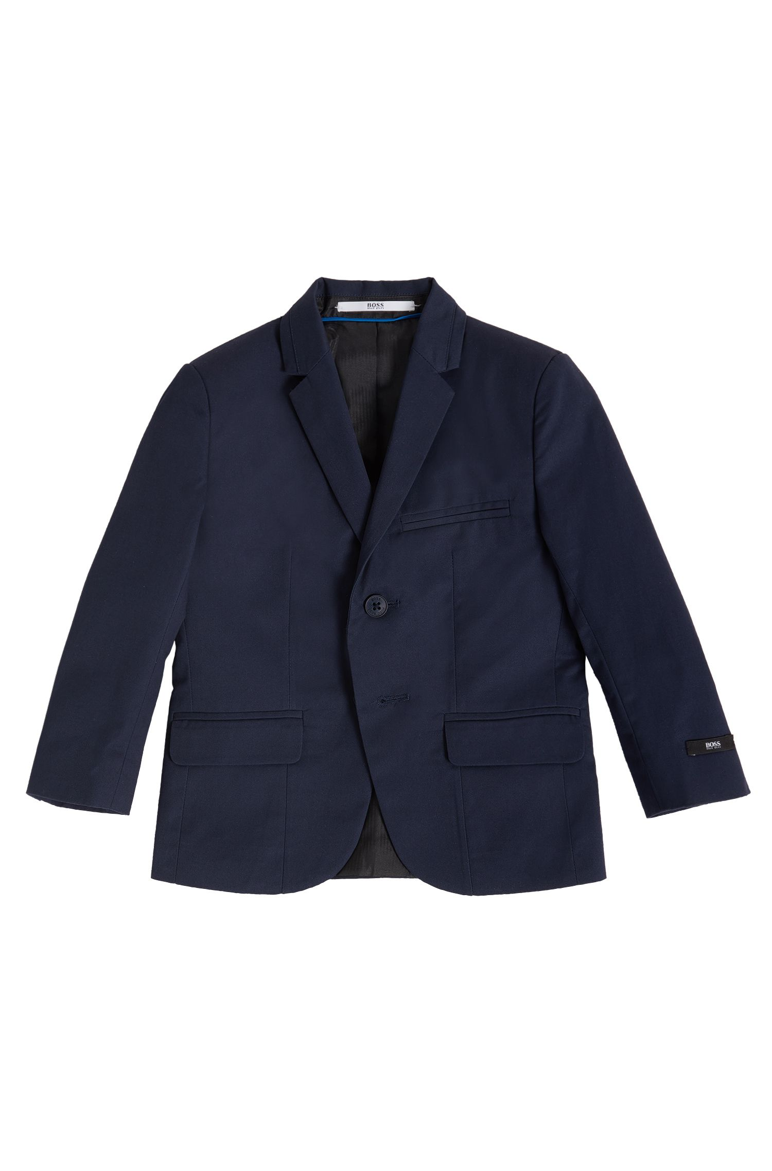 Kids' regular-fit suit jacket in cotton twill