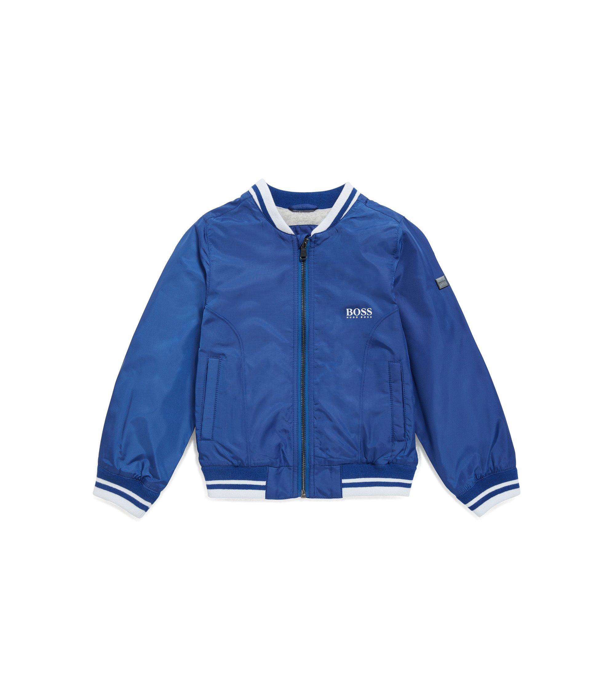 Kids-Jacke aus Material-Mix mit Innenfutter aus Mesh und Jersey, Blau
