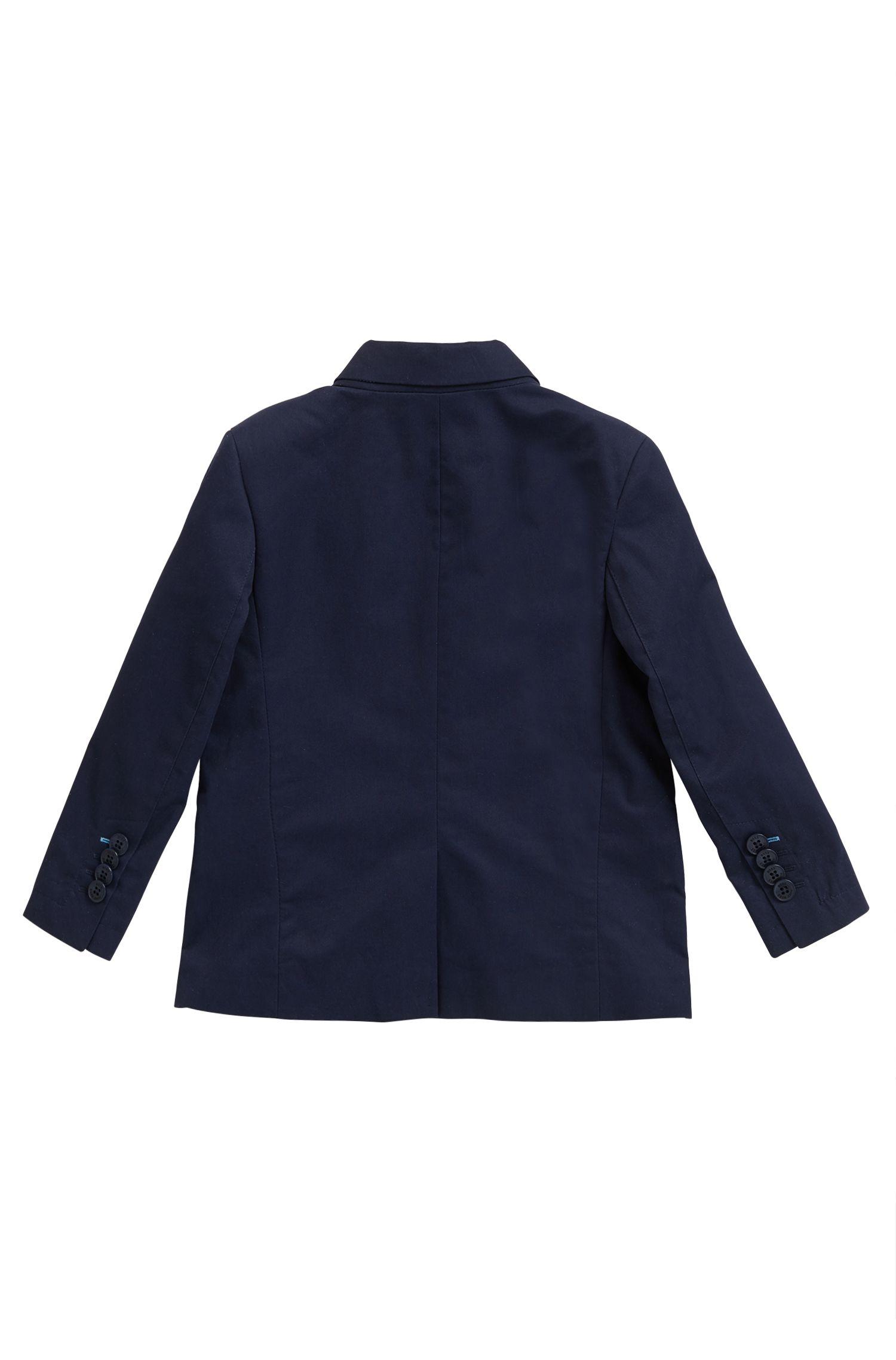Giacca da bambino in twill di cotone, Blu scuro