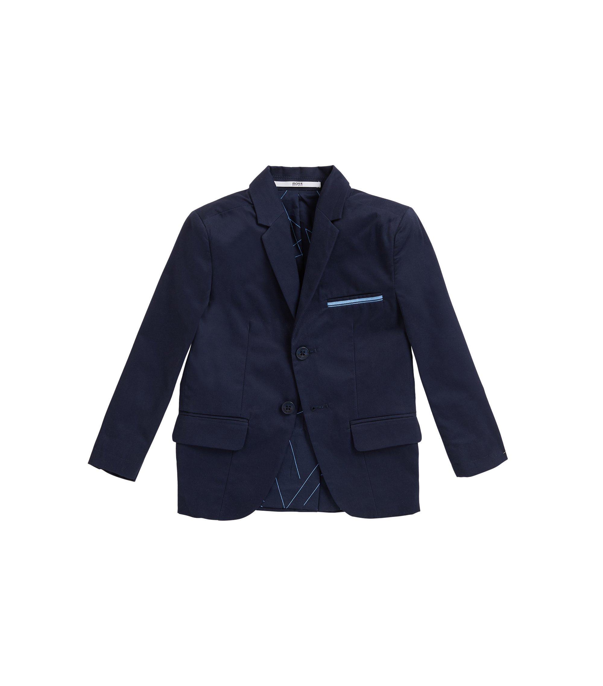 Kids' suit jacket in cotton twill, Dark Blue