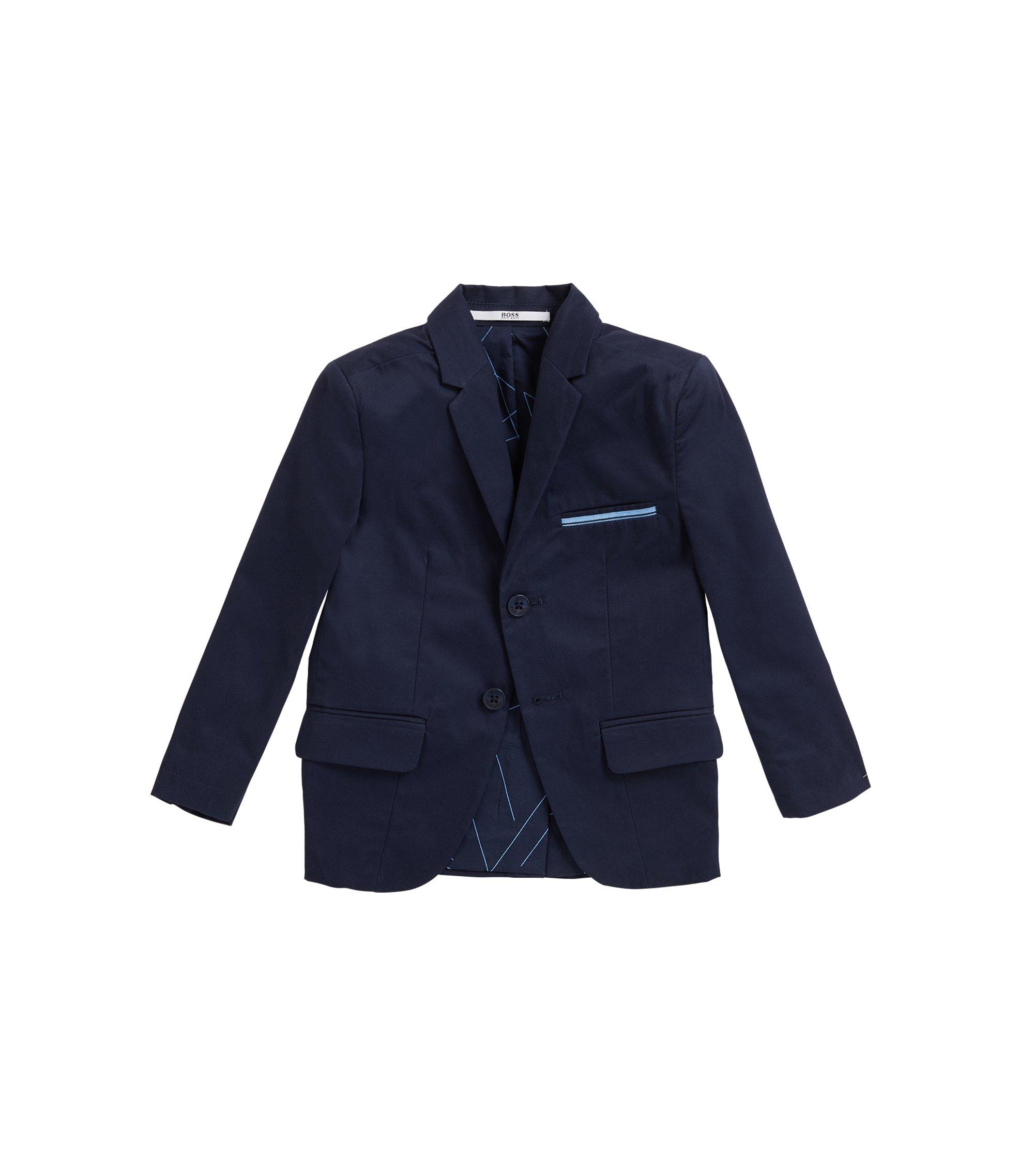 Veste de costume pour enfant en sergé de coton, Bleu foncé
