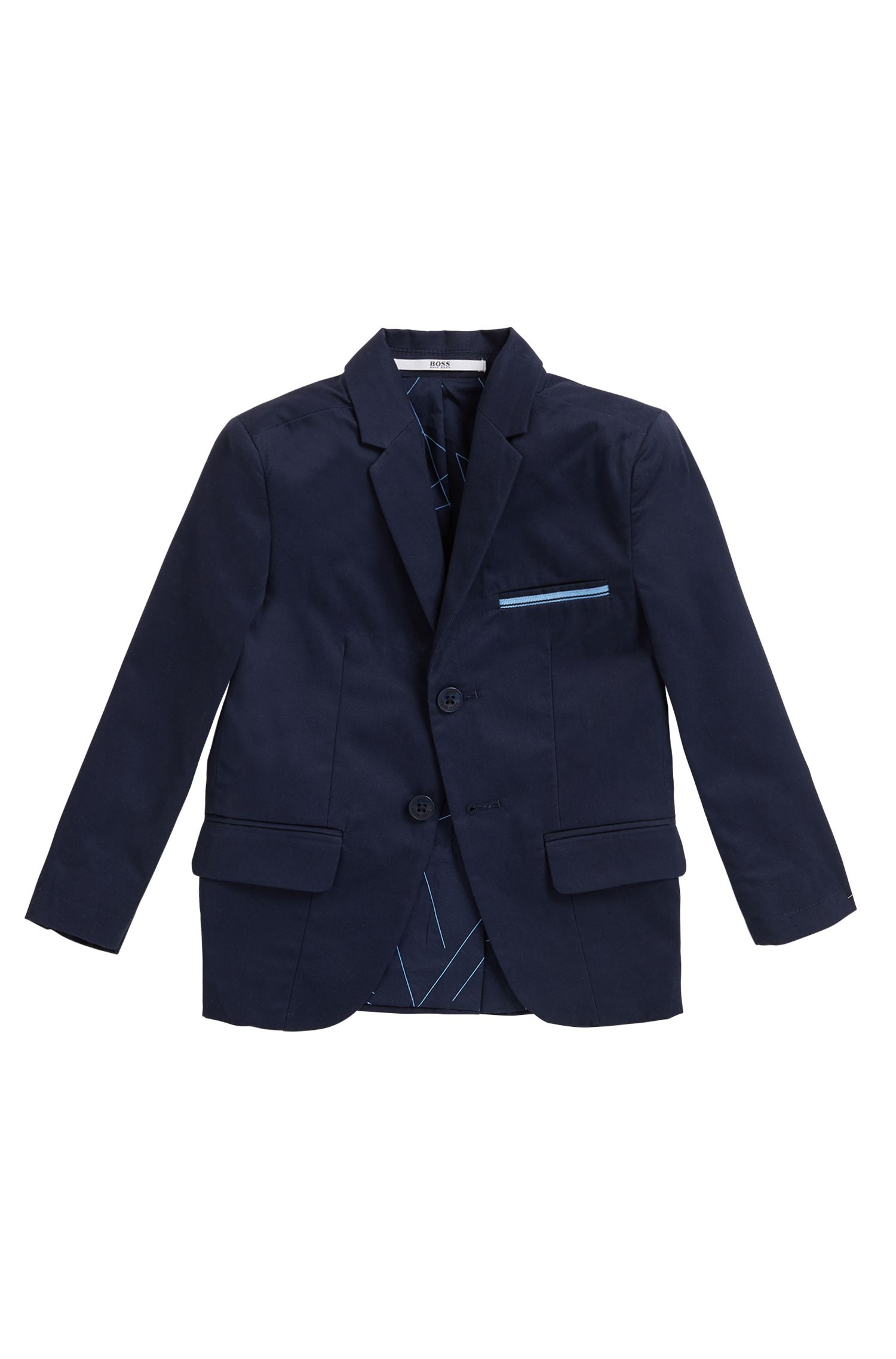 Kids' suit jacket in cotton twill