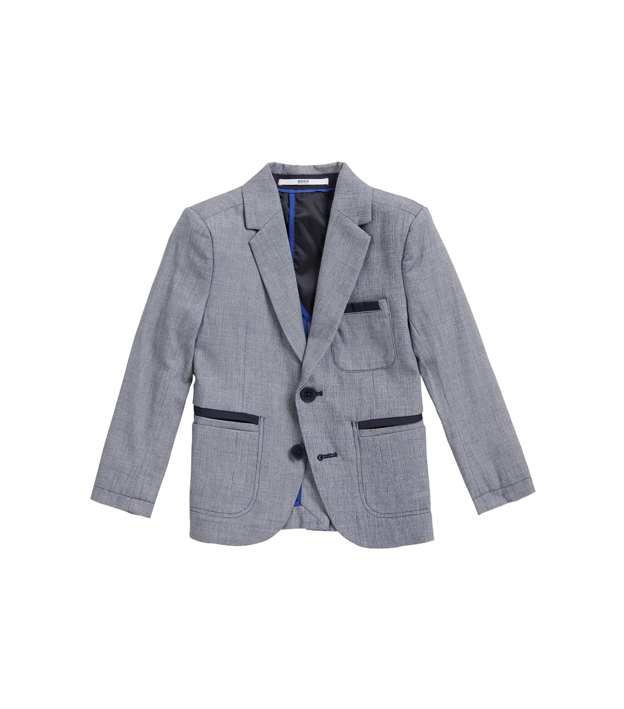 Kids' suit jacket in woven cotton , Patterned
