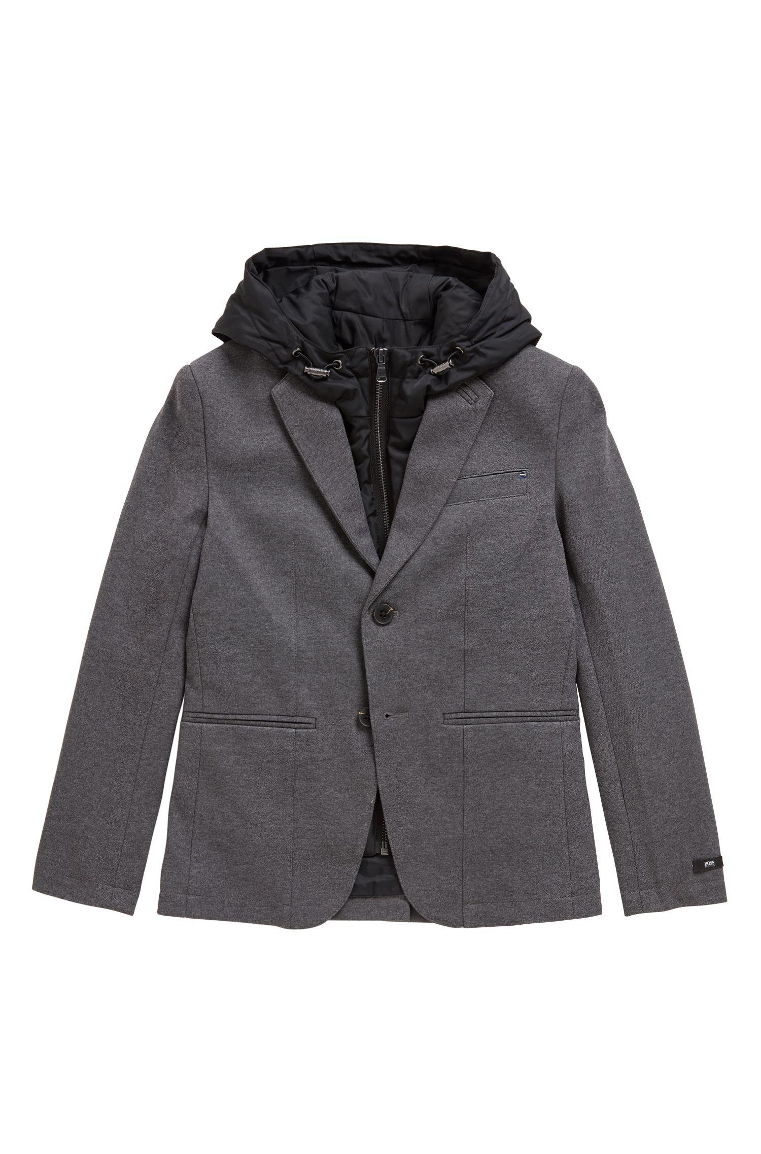 Blazer pour enfant avec veste intérieure amovible, Anthracite