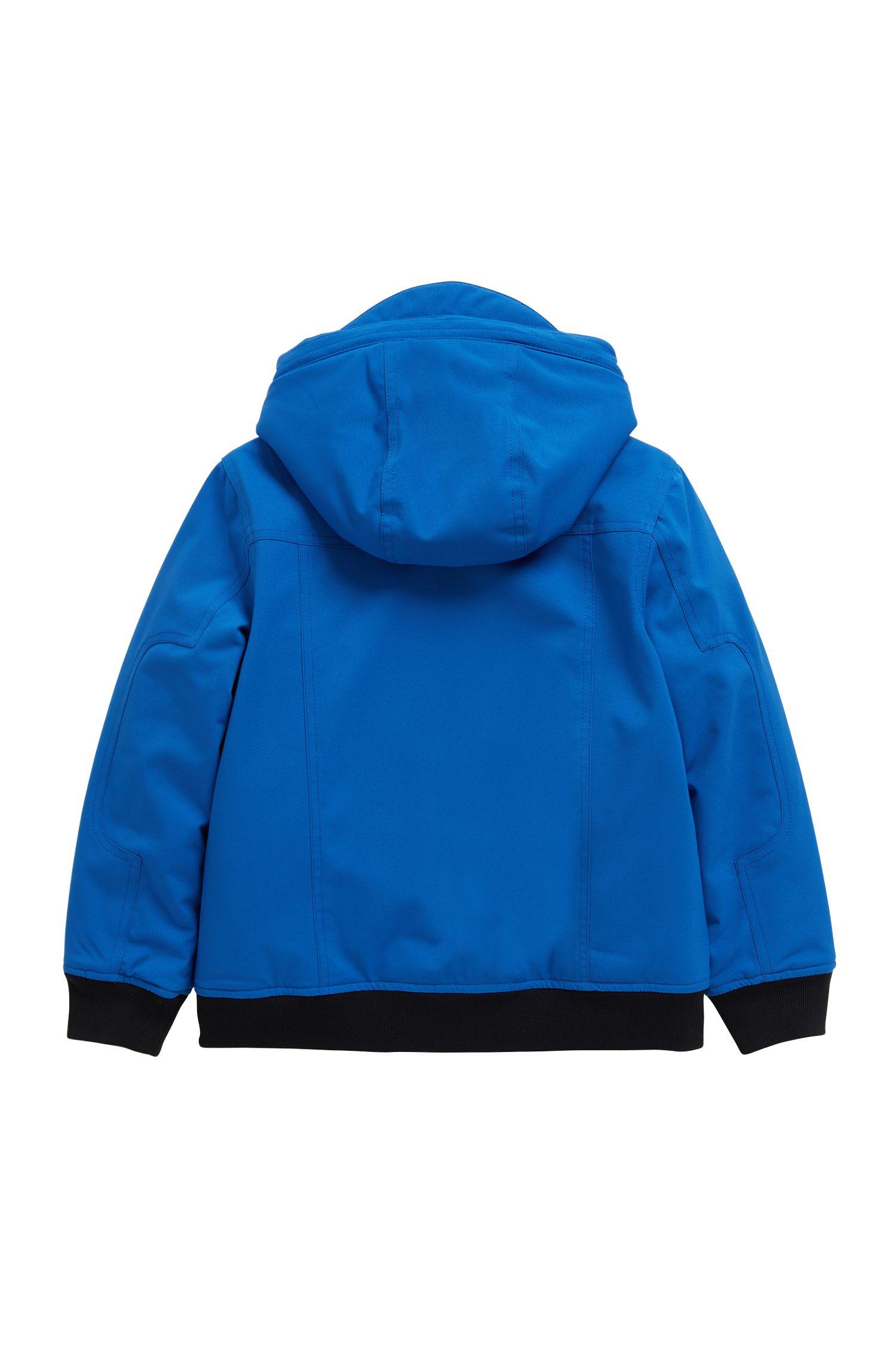 Parka regular fit para niños con forro polar interior, Azul