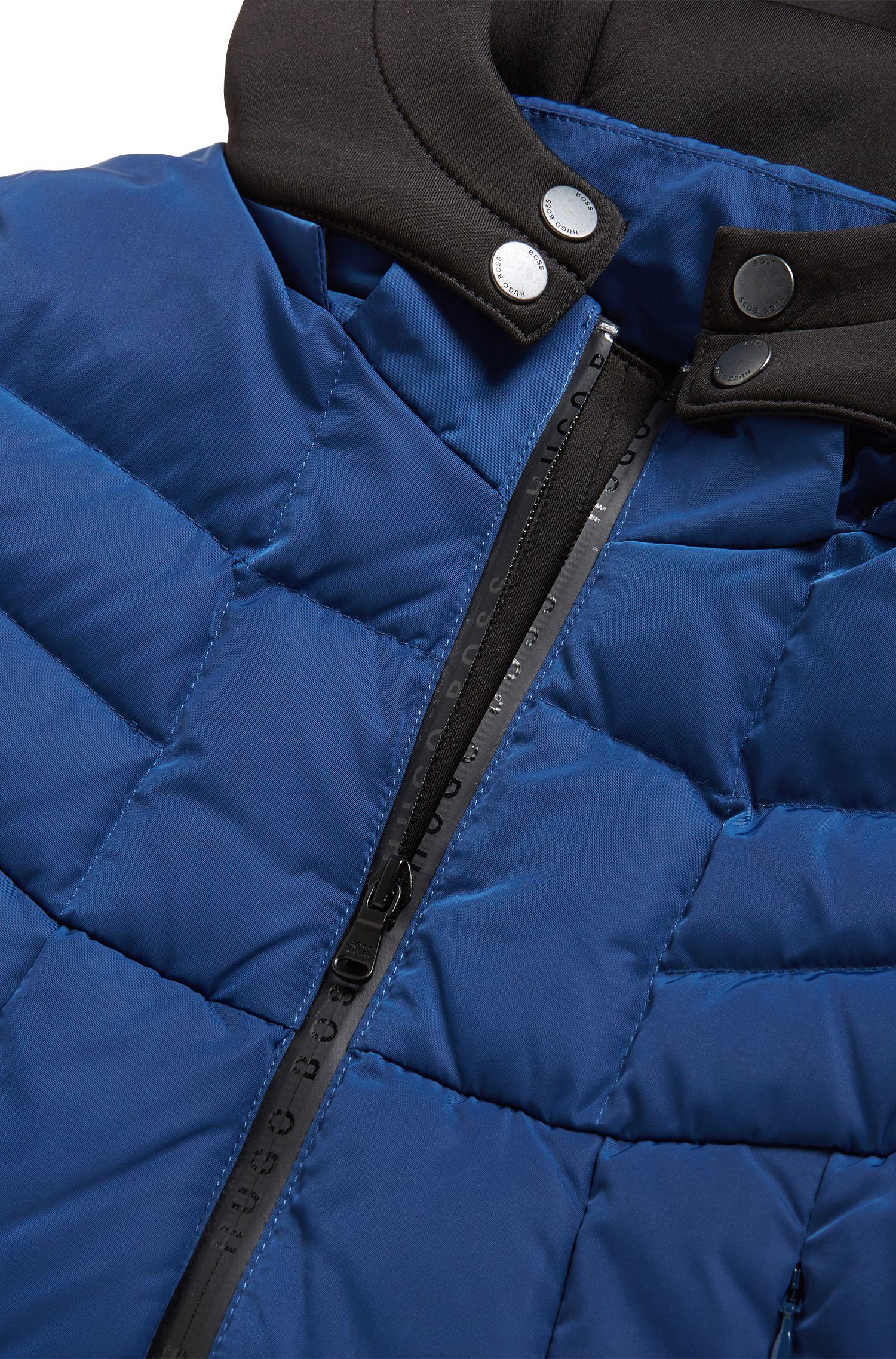 Kinderjas met donsvulling en afneembare capuchon van neopreen, Blauw