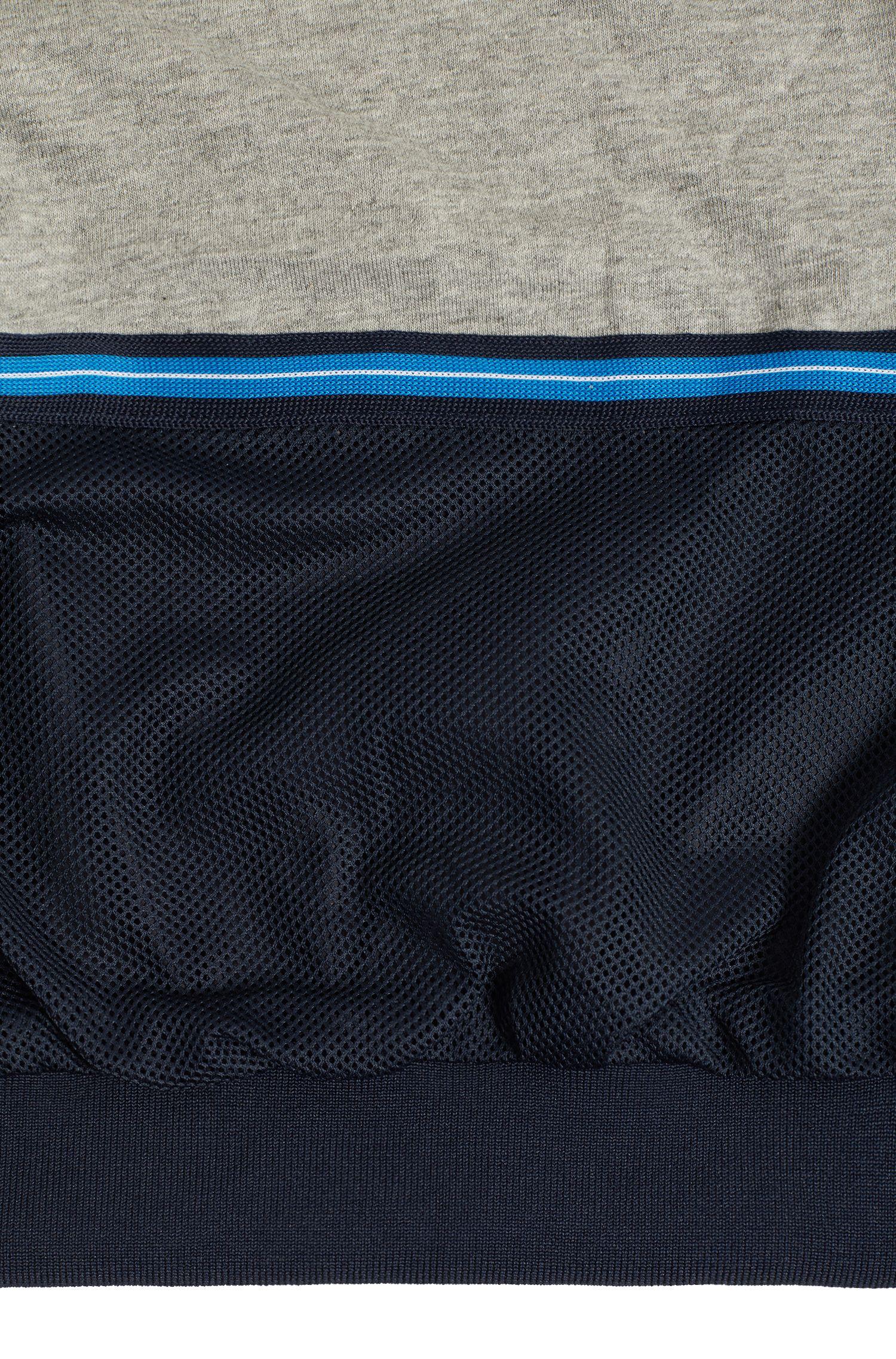 Waterafstotende kinderjas met logobiezen, Donkerblauw