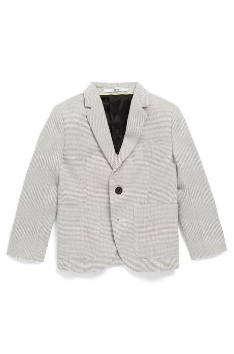 Veste Slim Fit pour enfant en coton façonné bicolore, Fantaisie