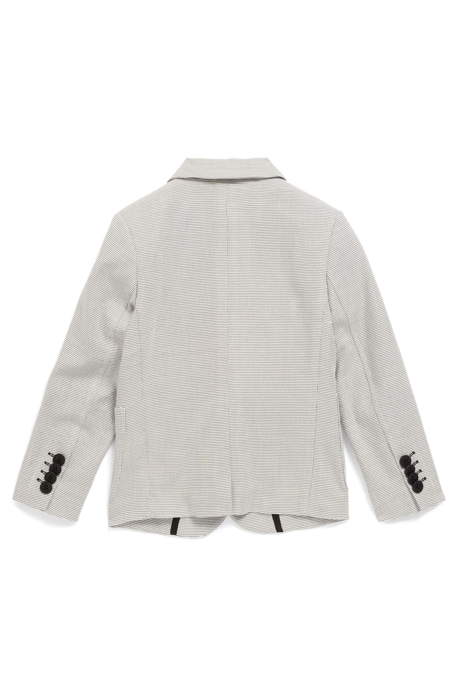 Chaqueta slim fit para niños en algodón dobby de dos tonos, Fantasía
