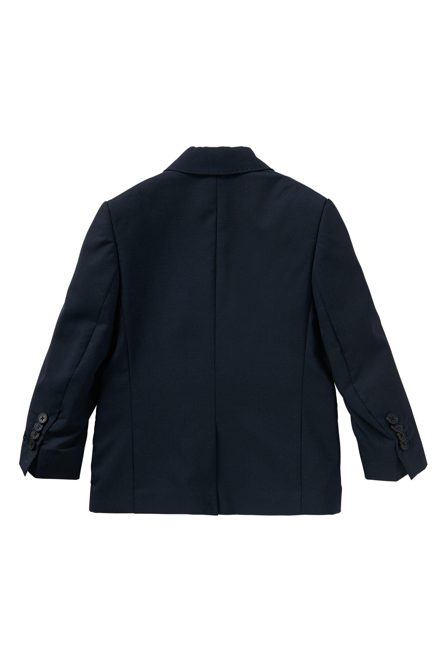 Veste de costume pour enfant en laine unie avec pochette intégrée: «J26U07»
