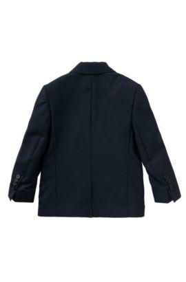 Veste de costume pour enfant en laine unie avec pochette intégrée: «J26U07», Bleu foncé
