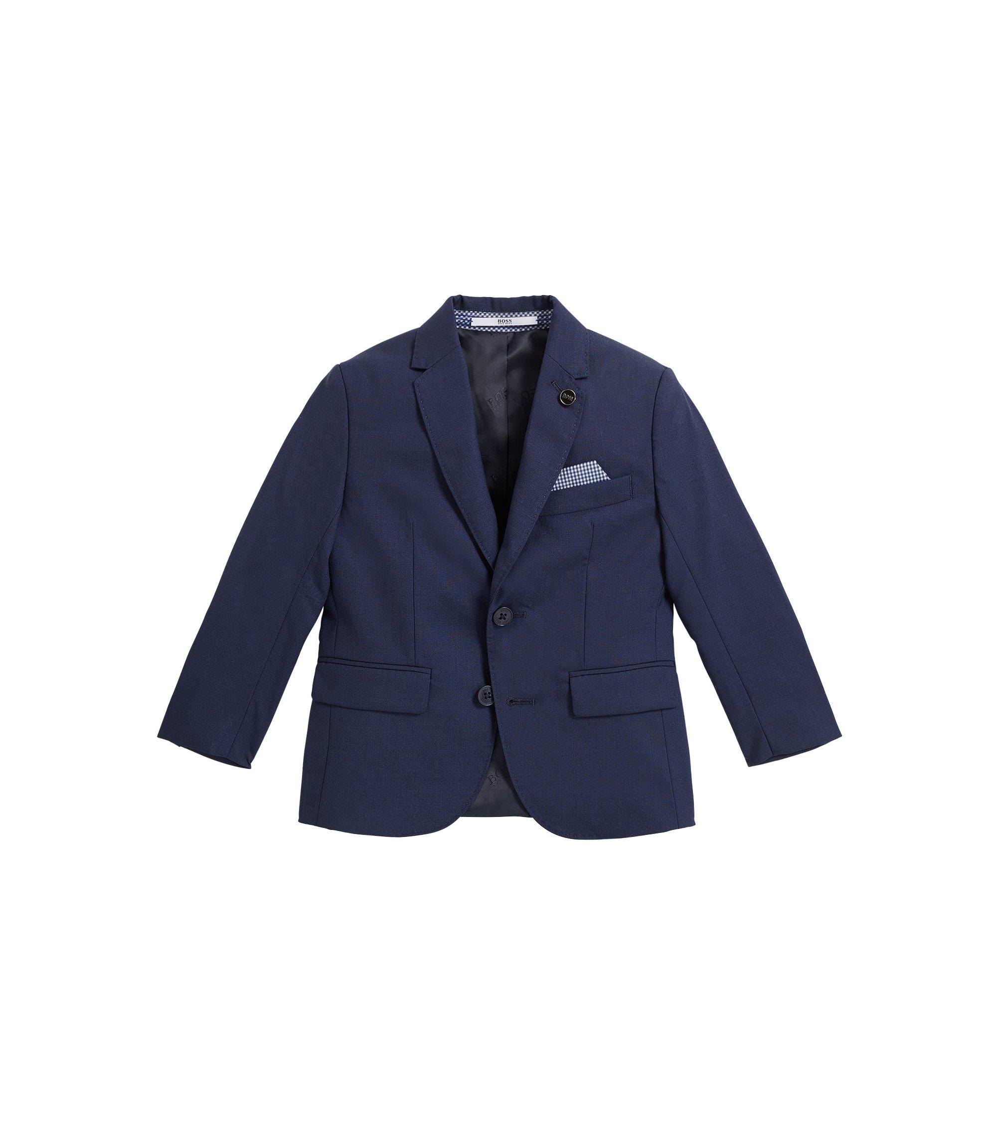 Veste de costume en laine pour enfant, Bleu foncé