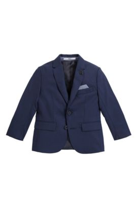 Kids' suit jacket in wool, Dark Blue