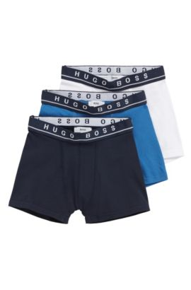 Kids' three-pack of cotton boxer shorts, Dark Blue
