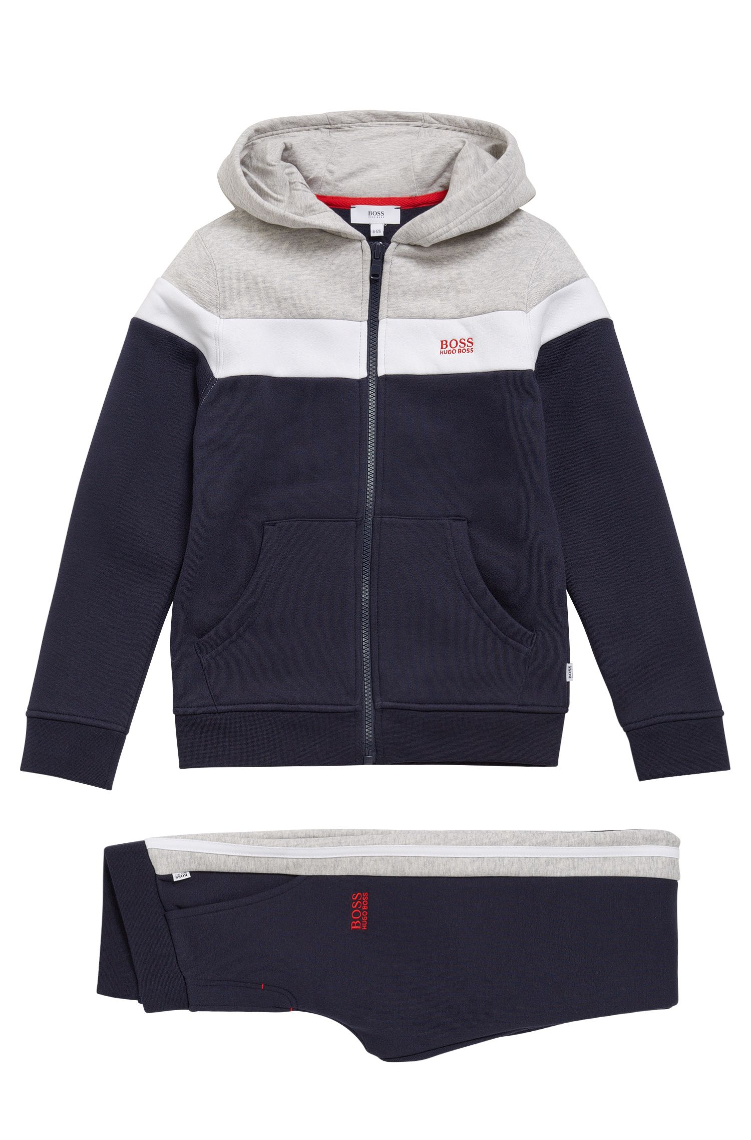 Kids' jacket and tracksuit bottoms in cotton blend: 'J28047'