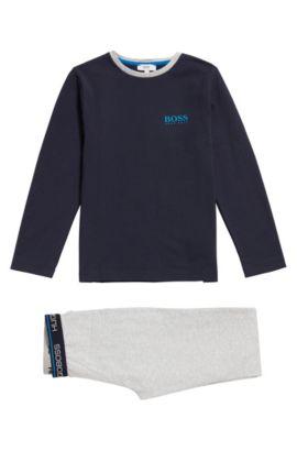 Kids-Pyjama aus Baumwolle mit Logo-Print: 'J28048', Gemustert
