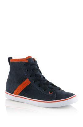 Kids-Sneaker ´J29080` aus Veloursleder, Schwarz