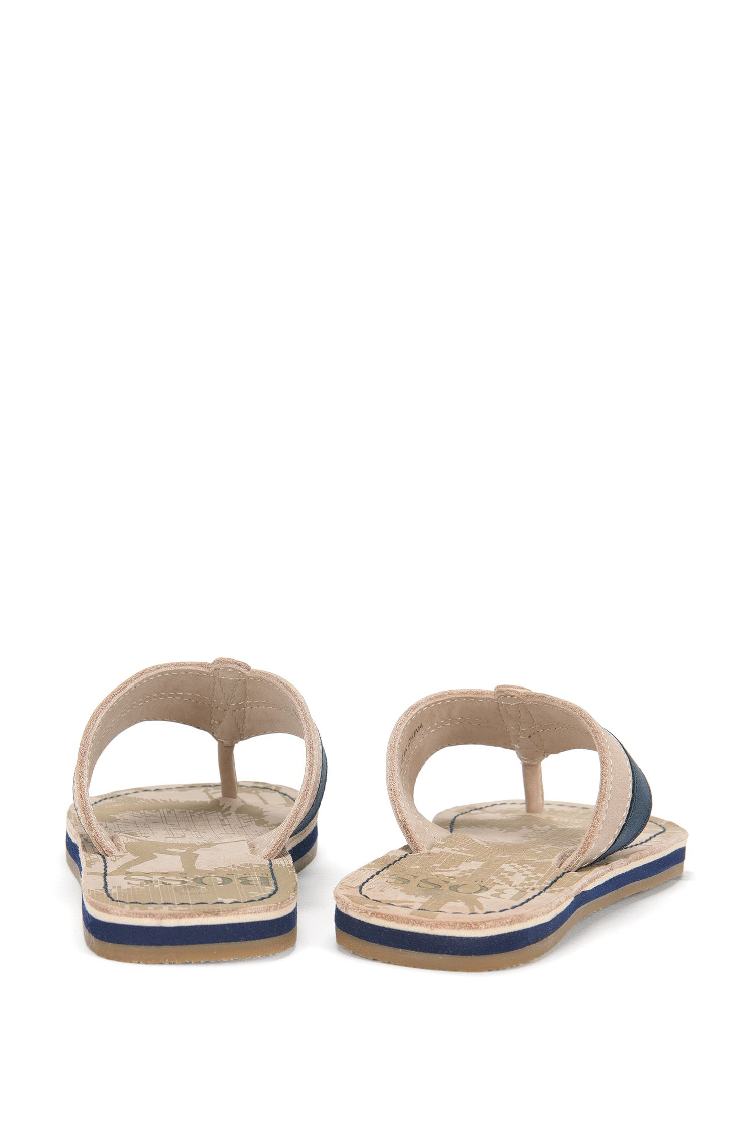 Printed kids' toe-separator sandals in leather: 'J29111'