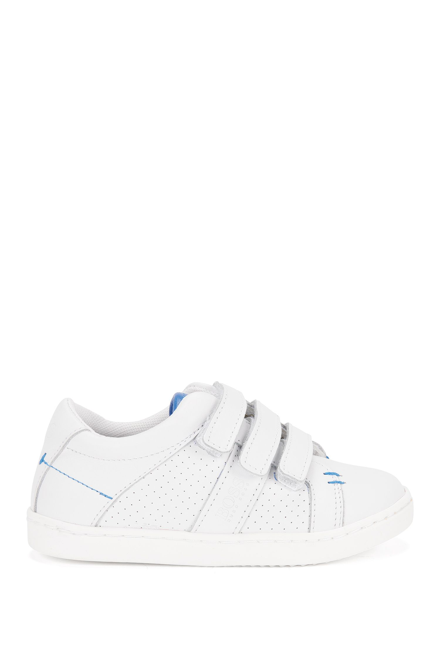 Kids' leather trainers with touch closure: 'J29114'