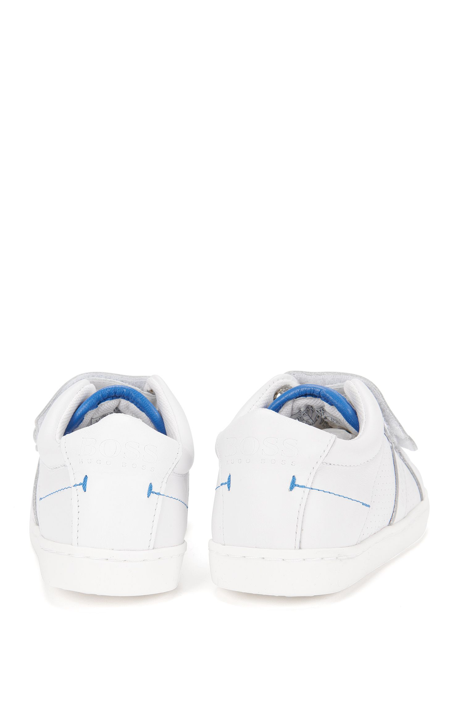 Baskets pour enfant en cuir à fermeture auto-agrippante: «J29114»