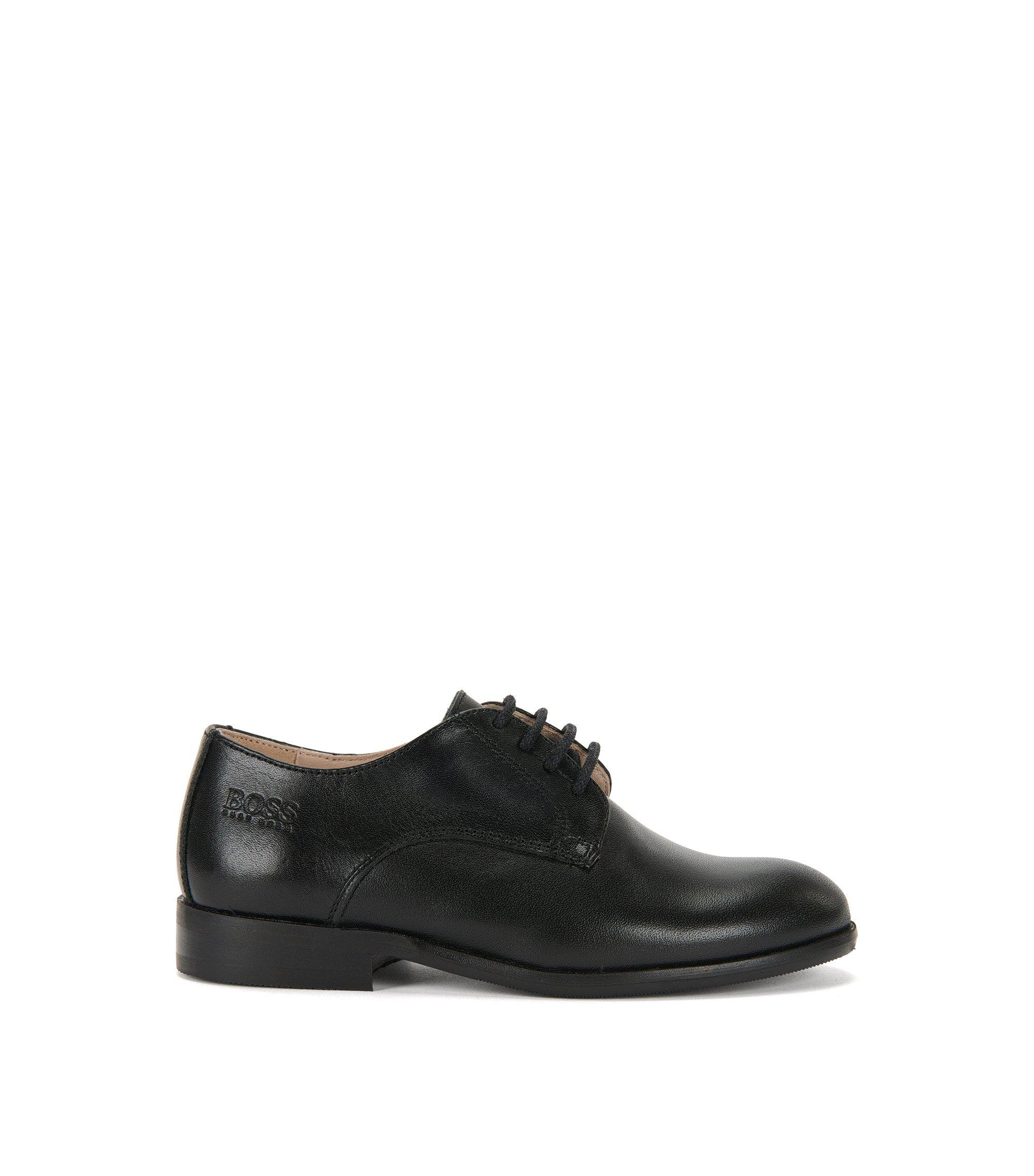 Chaussures à lacets en cuir vernis pour enfants: «J29115», Noir