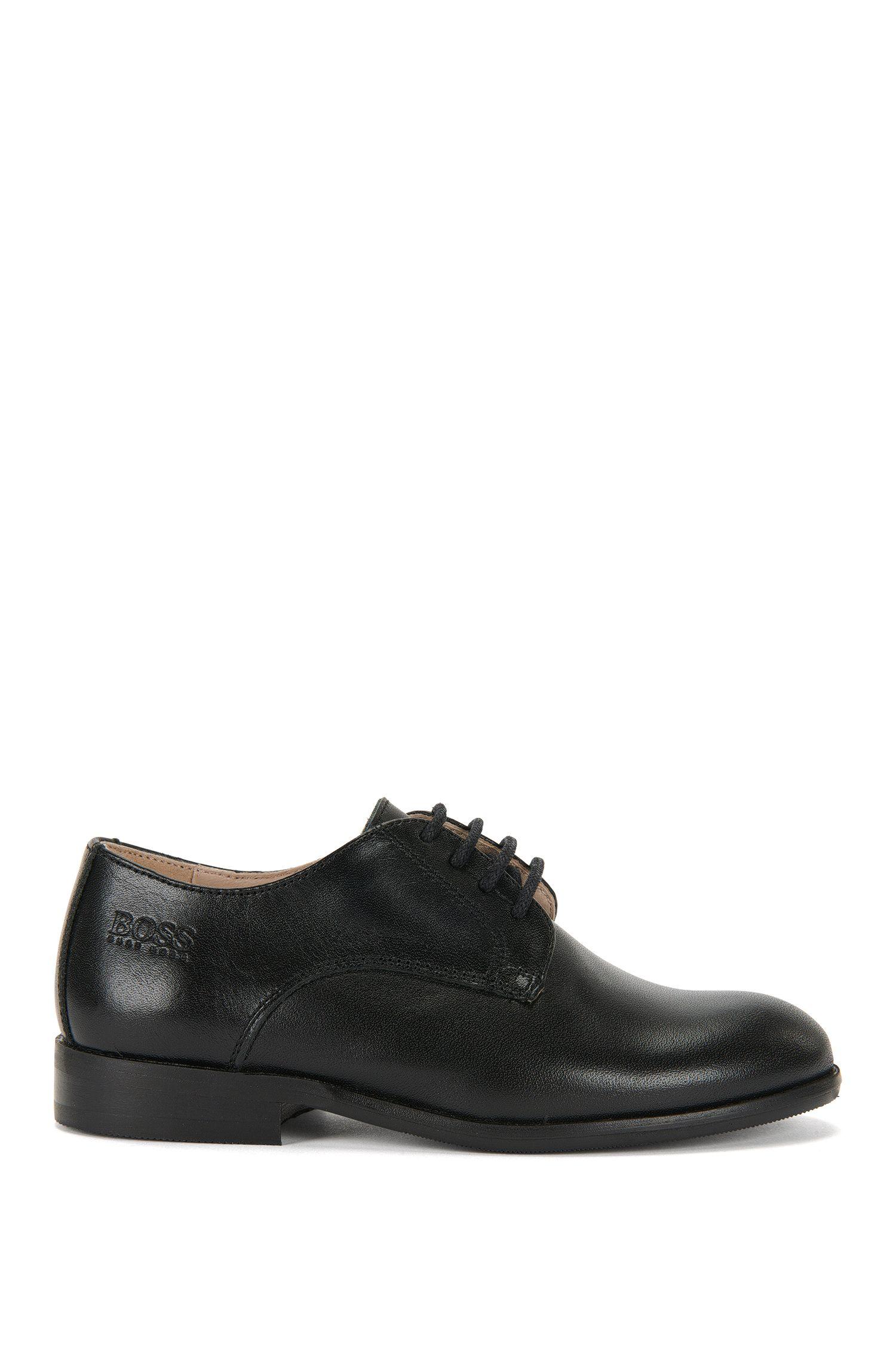 Chaussures à lacets en cuir vernis pour enfants: «J29115»