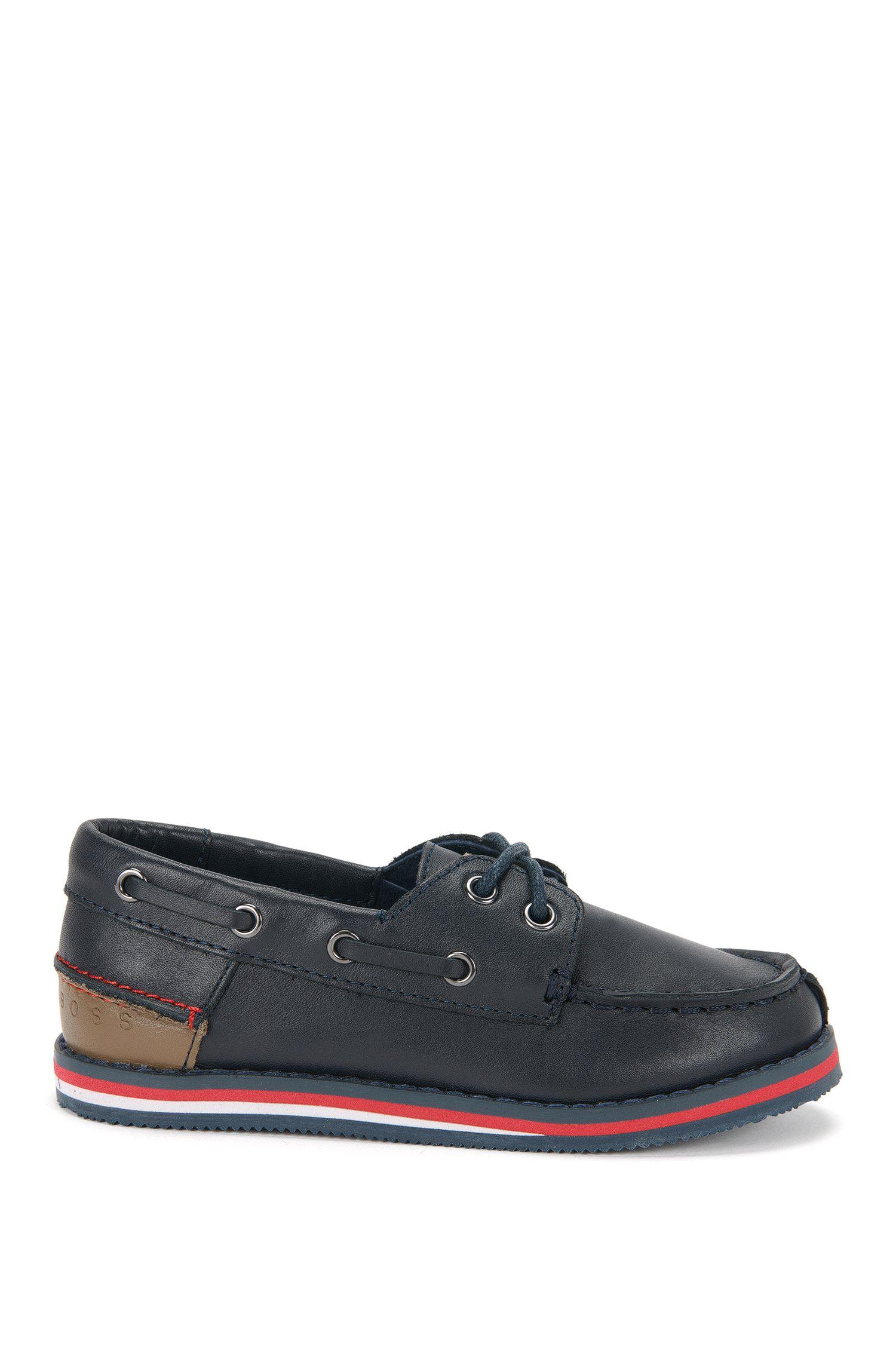 Chaussures bateau pour enfant en cuir: «J29116»