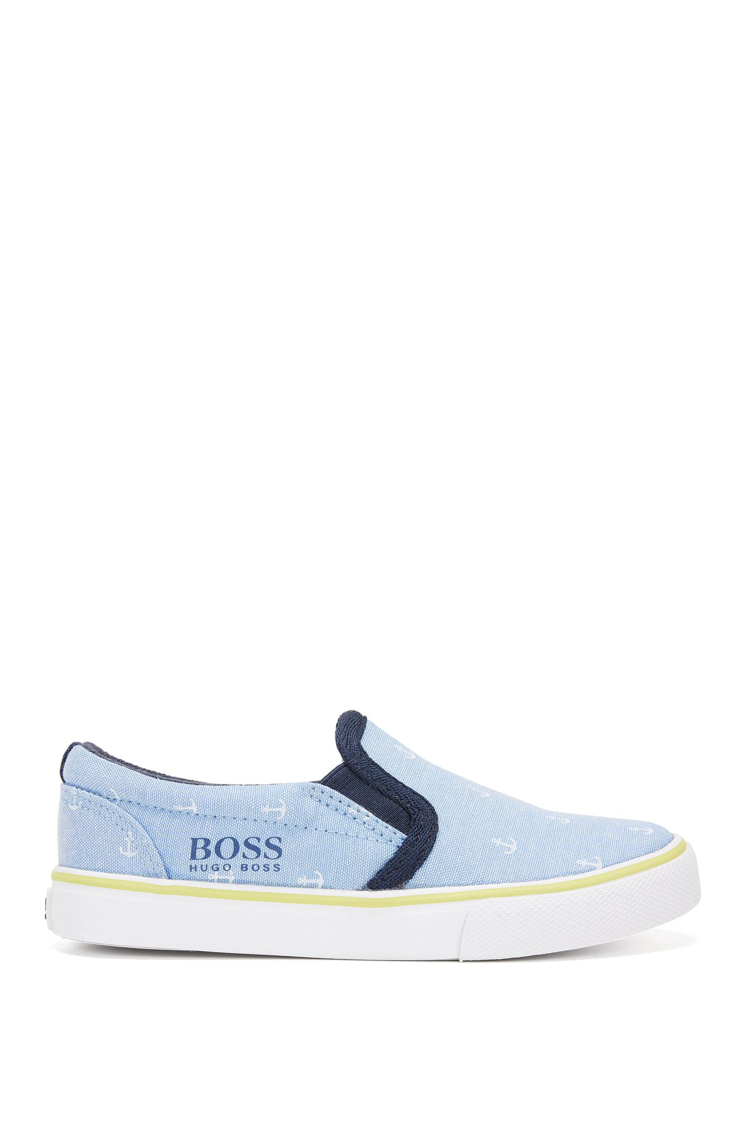 Kids' slip-on shoes in printed cotton
